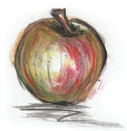 Apfel Zeichnung Obsthof Wißkirchen